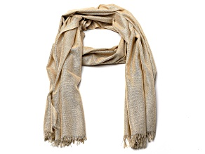 Champagne Pashmina Wrap with Fringe