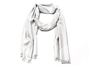 Ivory Pashmina Wrap with Fringe