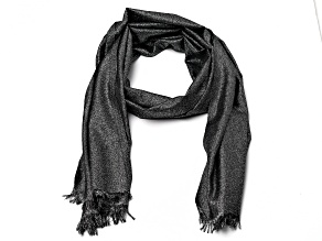Black Pashmina Wrap with Fringe