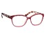 Pink Crystal, Pink and Brown Leopard Frame Reading Glasses 2.50 Strength