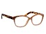 Peach Crystal Brown Leopard Frame Reading Glasses 2.50 Strength