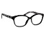 Black Crystal, Black and White Marble Frame Reading Glasses 2.50 Strength
