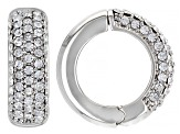 Silver Tone Cubic Zirconia and White Crystal 3 Piece Clip On Earrings Set