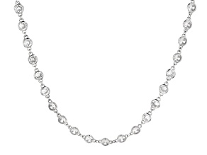Clear Cubic Zirconia Silver Tone Necklace 74.00ctw