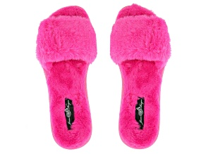 Fuchsia Pink Faux Fur Slipper