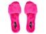 Fuchsia Pink Faux Fur Slipper