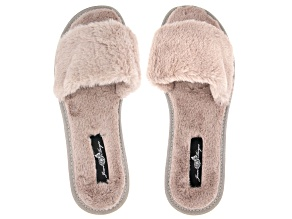 Cream Oyster Color Faux Fur Slipper