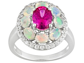 Pink Danburite Sterling Silver Ring 2.75ctw