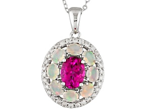 Pink Danburite Sterling Silver Pendant With Chain 2.75ctw