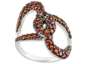 Red Garnet Sterling Silver Ring 1.59ctw