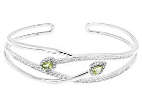 Green Peridot Sterling Silver Bracelet 1.91ctw