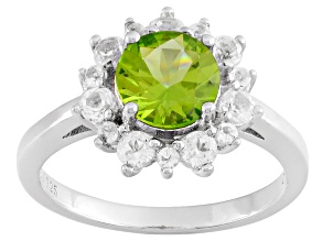 Green Arizona Peridot Sterling Silver Ring 1.70ctw