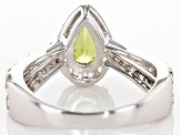 Green Peridot Sterling Silver Ring 1.73ctw