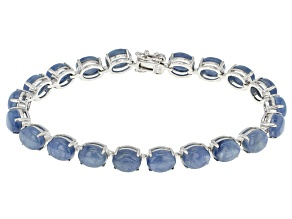 Blue Kyanite Sterling Silver Bracelet