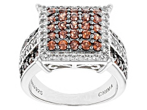 Brown Imperial Zircon Sterling Silver Ring. 2.40ctw