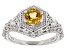 Yellow Citrine Sterling Silver Ring .68ctw