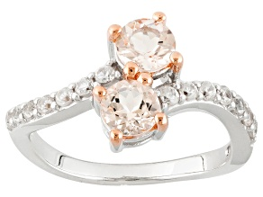 Pink Morganite Sterling Silver Ring. 1.10ctw