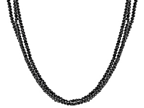 Black Spinel Sterling Silver Necklace