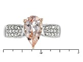Pink Morganite Sterling Silver Two Tone Ring 1.19ctw