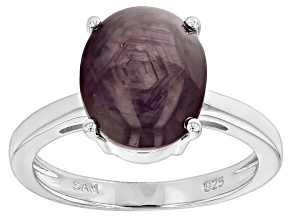 Red indian Star Ruby Sterling Silver Ring 6.80ct