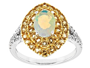 Ethiopian Opal Sterling Silver Ring 1.28ctw