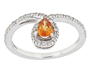 Orange Spessartite Garnet Sterling Silver Ring .69ctw