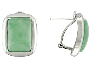 Green Jadeite Sterling Silver Earring