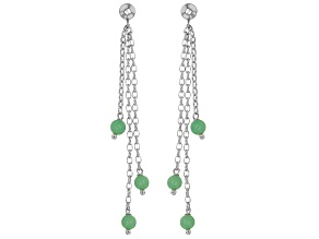 Green Jadeite Sterling Silver Earrings.
