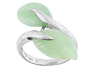 Green Jadeite Sterling Silver Ring