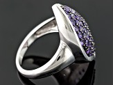 Purple African Amethyst Sterling Silver Ring 1.60ctw.
