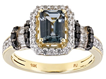Picture of Gray Platinum Color Spinel 10k Yellow Gold Ring 1.78ctw