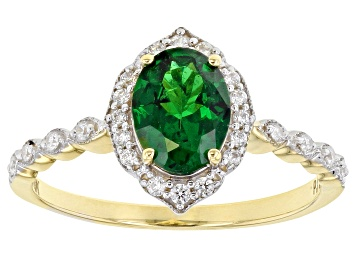 Picture of Green Tsavorite 10k Yellow Gold Ring 1.24ctw