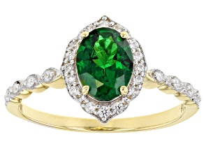 Green Tsavorite 10k Yellow Gold Ring 1.24ctw