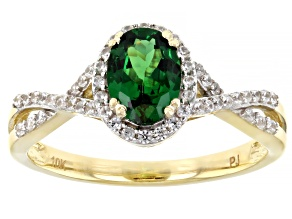Green Tsavorite 10k Yellow Gold Ring 1.06ctw