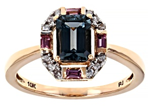 Platinum Color Spinel 10k Rose Gold Ring 1.52ctw