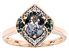 Platinum Color Spinel 10k Rose Gold Ring 1.27ctw