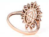 Pink Rose Quartz 10k Rose Gold Ring 0.99ctw