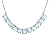 Blue topaz rhodium over silver necklace 22.00ctw
