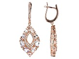 Pink Morganite 18k Rose Gold Over Sterling Silver Earrings 4.36ctw
