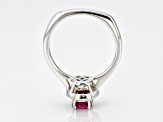 Red Ruby Rhodium Over Sterling Silver Ring .82ctw