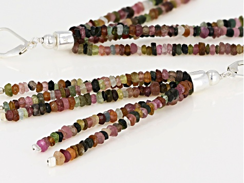 Multi-Color Tourmaline Sterling Silver Earrings