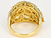 Yellow Citrine 18k Yellow Gold Over Sterling Silver Ring 6.67ctw