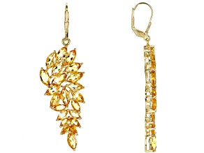 Yellow Citrine 18k Yellow Gold Over Sterling Silver Earrings 12.44ctw