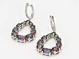 Green Mystic Fire(R) topaz rhodium over silver earrings 8.12ctw