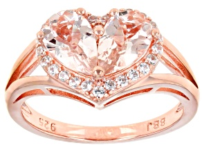 Pink Morganite 18k Rose Gold Over Sterling Silver Ring 1.62ctw