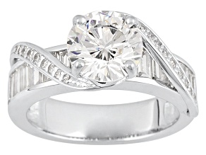 Cubic Zirconia Silver Ring 5.77ctw