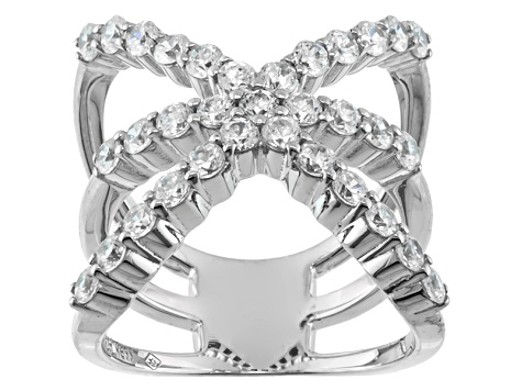 Cubic Zirconia Silver Ring 2.64dctw