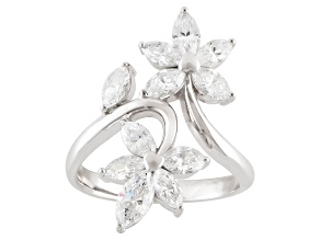 Cubic Zirconia Sterling Silver Ring 3.47ctw