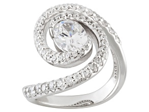 Cubic Zirconia Sterling Silver Ring 3.19ctw