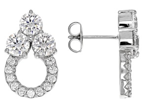 Cubic Zirconia Rhodium Over Silver Earrings 5.55ctw